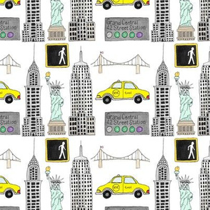 New York City Icons NYC favorites linear