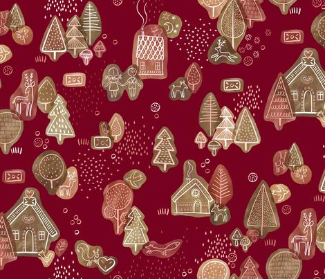 Hansel and Gretel fabric by marketa_stengl on Spoonflower - custom fabric