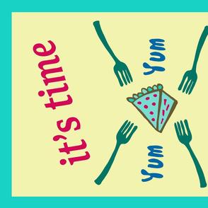 It's Time For Pie! Tea Towel Design