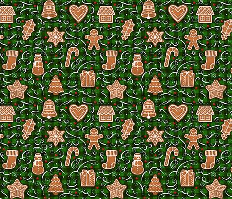 Gingerbread Challenge fabric by malibu_creative on Spoonflower - custom fabric