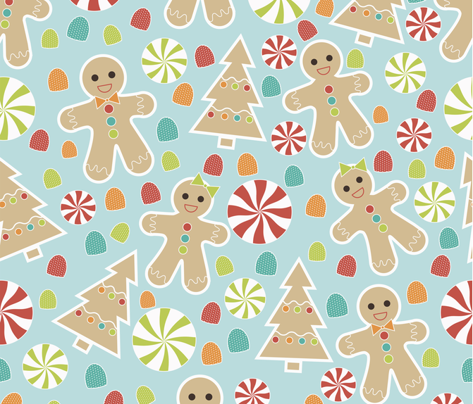 Gingerbread  fabric by meredith_watson on Spoonflower - custom fabric