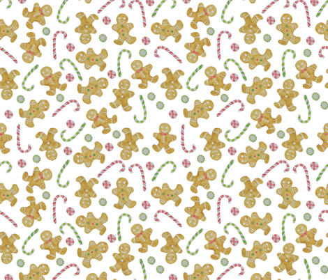 gingerbread men fabric by valeri_nick on Spoonflower - custom fabric