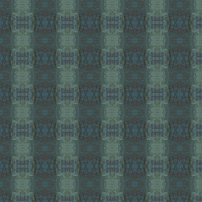 Ikat Tracks in Steely Teal (small format)