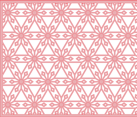 Triangles and Diamonds (with border) fabric by davidkaufman on Spoonflower - custom fabric