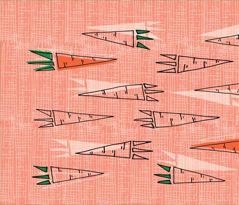20 Carrots Tea Towel  fabric by orangepoppydesigns on Spoonflower - custom fabric