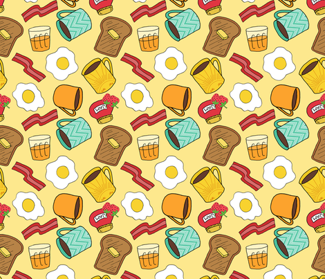 Breakfast Pattern fabric by northern_whimsy on Spoonflower - custom fabric