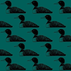 Loon: Black and Emerald