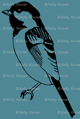 Black Capped Chickadee - Dust Blue