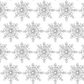 Snowflake - Black and White