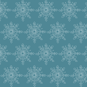 Snowflake - Dust Blue and White