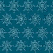 Snowflake - Denim and White