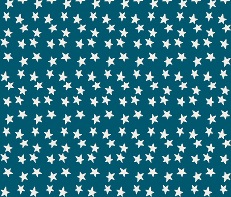 Stars - Off White & Denim fabric by kelly_korver on Spoonflower - custom fabric