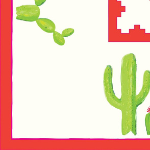 cactus tablecloth rectangle