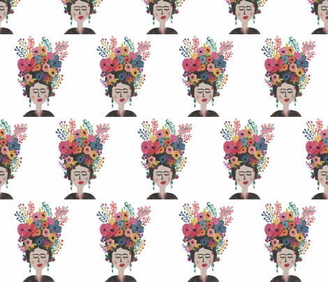 Frida Floral #1 fabric by alchemyhome on Spoonflower - custom fabric