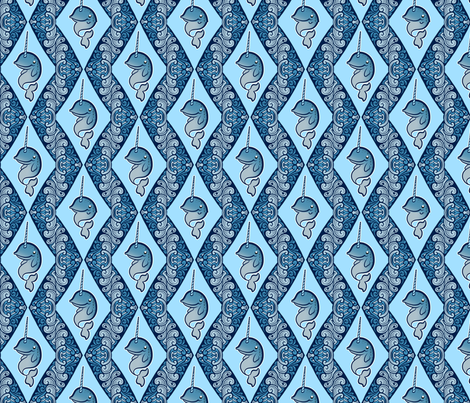 Narwhals fabric by jadegordon on Spoonflower - custom fabric