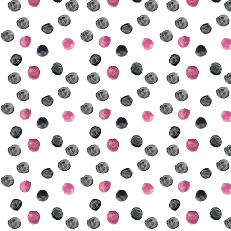 pink and black polka dots fabric by jell-bell on Spoonflower - custom fabric