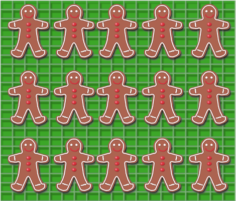 gingerbread_men fabric by msidlosky on Spoonflower - custom fabric