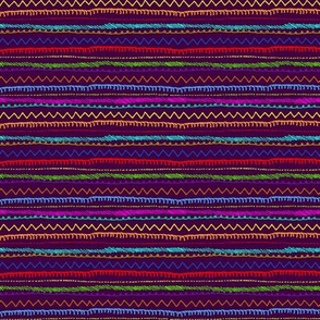 Andean Stripes Purple