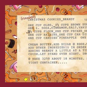 Grandma's Brandy Christmas Cookies