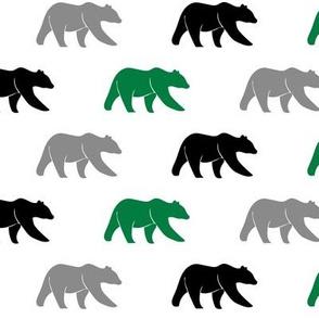 (small scale) multi bear - green, grey, black