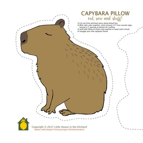 Capybara Pillow Kit