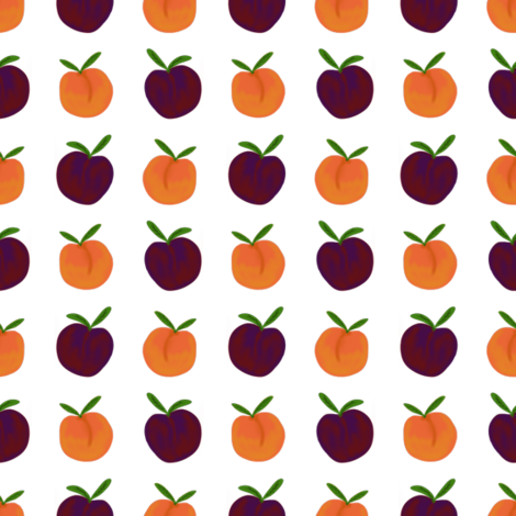 Plums and Peaches fabric by paper_and_frill on Spoonflower - custom fabric