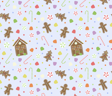 Gingerbread Wonderland fabric by calobeedoodles on Spoonflower - custom fabric