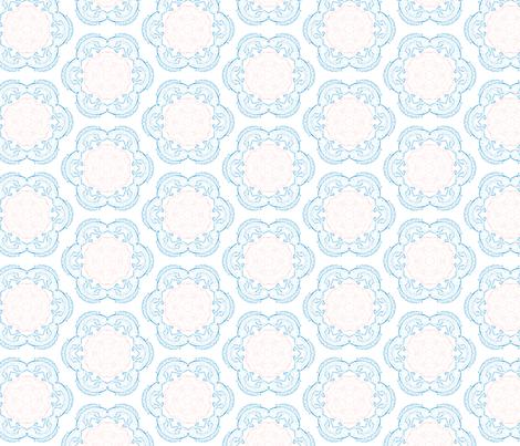 Fish in Flower  fabric by erica_lindberg_designs on Spoonflower - custom fabric