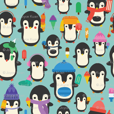 Colorful Ice Cream Penguins