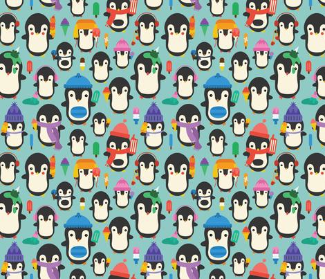Colorful Ice Cream Penguins fabric by joycekuan on Spoonflower - custom fabric