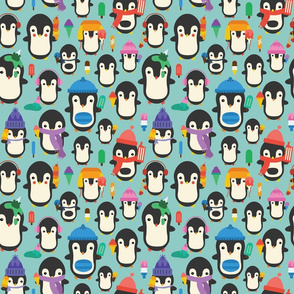 Colorful Ice Cream Penguins