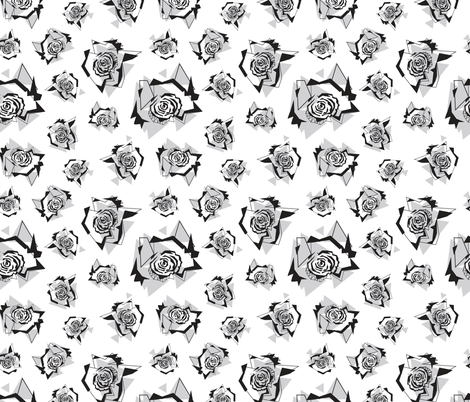 fragmented_black_white fabric by krista_power on Spoonflower - custom fabric