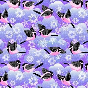 Pink and purple Carefree Snow Day