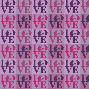 Dachshund Love Pink & Violet