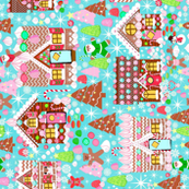 gingerbread house // gingerbread holiday fabric cute christmas design best gingerbread houses cute fabrics for xmas holidays  rotated