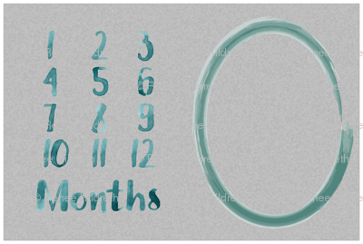 Grey and Teal Milestone Topper