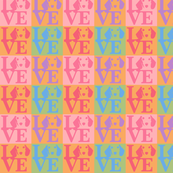 Dachshund Love Fabric