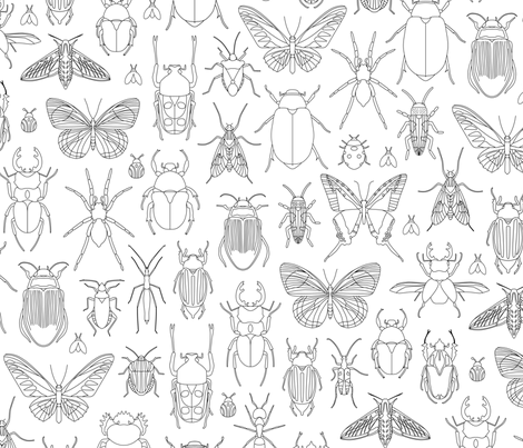 Bug Coloring Small fabric by mariafaithgarcia on Spoonflower - custom fabric