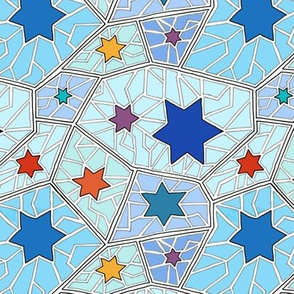 Hanukkah Star of David Mosaic