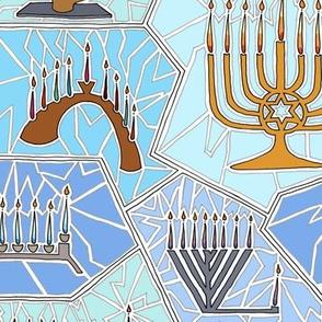 Hanukkah Menorah Festive Mosaic