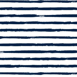 Painted Navy Blue Stripes (Grunge Vintage Distressed 4th of July American Flag Stripes)
