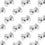 Game controller black and white