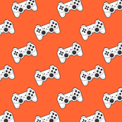 Game controller on orange