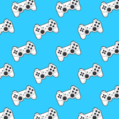 Game controller on blue