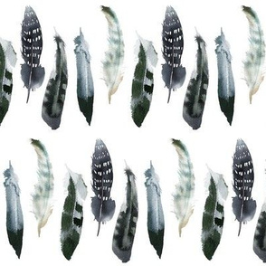 90 Boho Navy Feathers