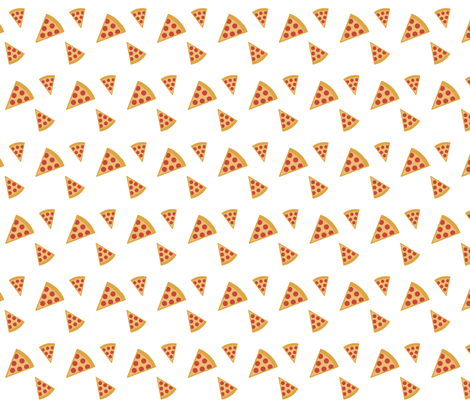 pizza party fabric by drapestudio on Spoonflower - custom fabric