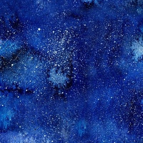 Galaxy watercolor pattern