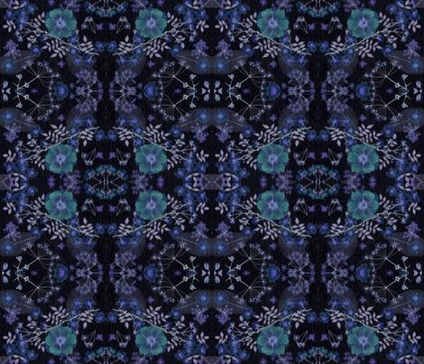 dark night garden fabric by mypetalpress on Spoonflower - custom fabric