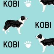 custom order - border collie paws kobi