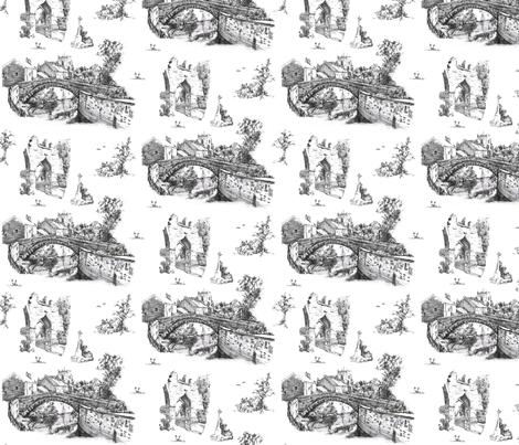 croston england toile du jouy fabric by rachel_bryan on Spoonflower - custom fabric
